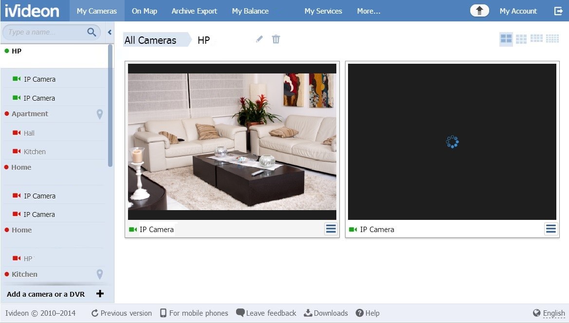 Vidéosurveillance par webcam et caméra IP: Test du service