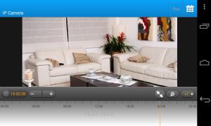 Capture d'écran de l'affichage en direct d'une caméra depuis l'application mobile de vidéosurveillance Ivideon