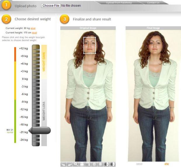 Simulateur de perte prise de poids en ligne 03