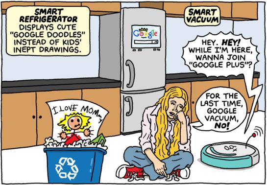 La maison du futur selon Google (humour), par Brian McFadden