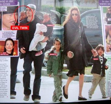 Duplication de l'enfant de Brad Pitt