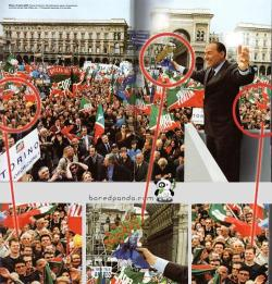 Duplication du public de Berlusconi